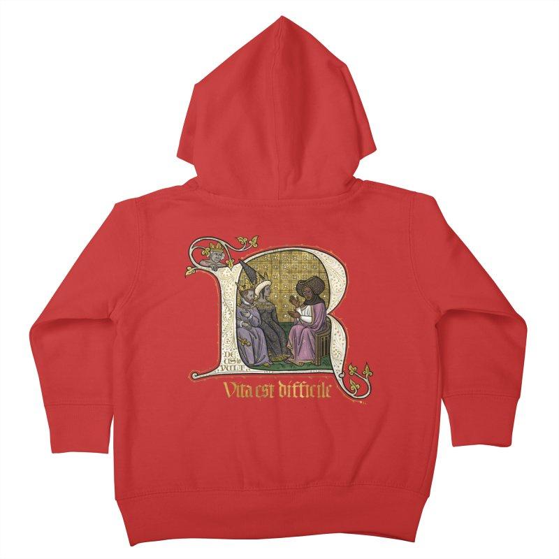 Vita est difficile Kids Toddler Zip-Up Hoody by Deus Lo Vult Merchandise Store