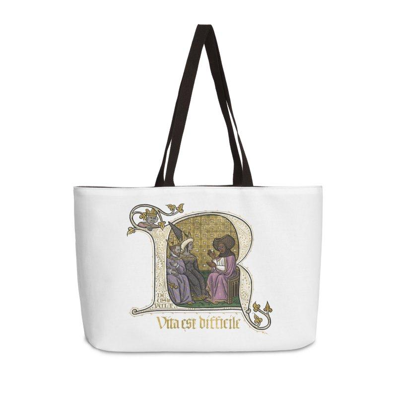 Vita est difficile Accessories Bag by Deus Lo Vult Merchandise Store