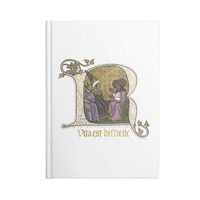 Vita est difficile Accessories Notebook by Deus Lo Vult Merchandise Store