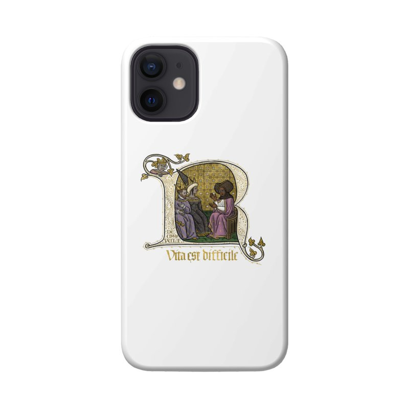 Vita est difficile Accessories Phone Case by Deus Lo Vult Merchandise Store