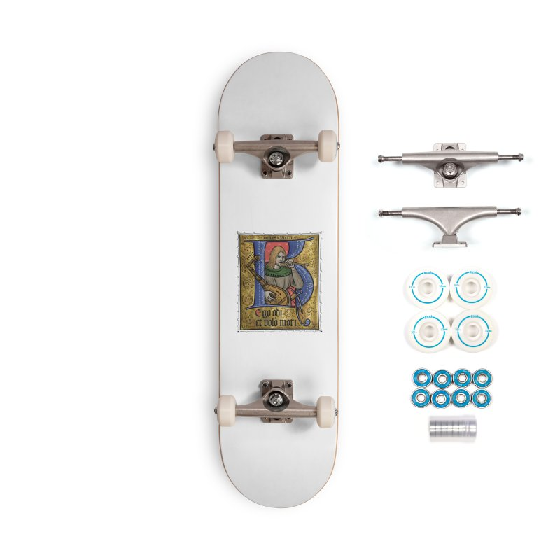Ego odi et volo mori Accessories Skateboard by Deus Lo Vult Merchandise Store