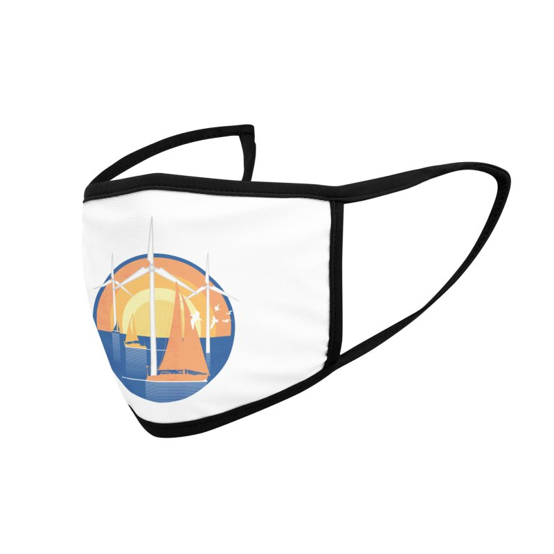 Windmills at Sunset Accessories Face Mask by HickhopShop