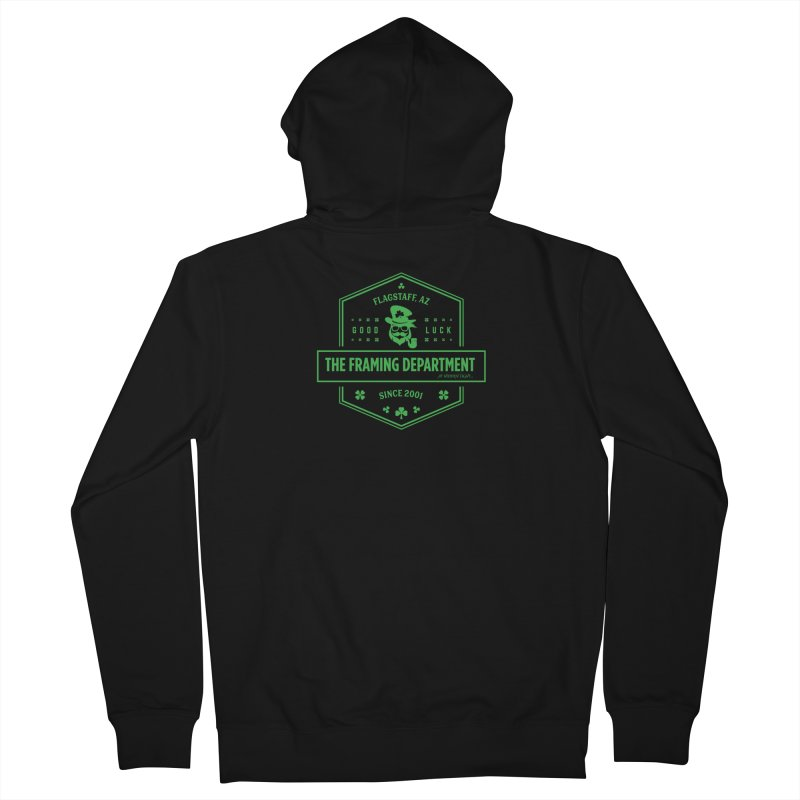 St Paddy's with Pipe Men's French Terry Zip-Up Hoody by Hidden Light
