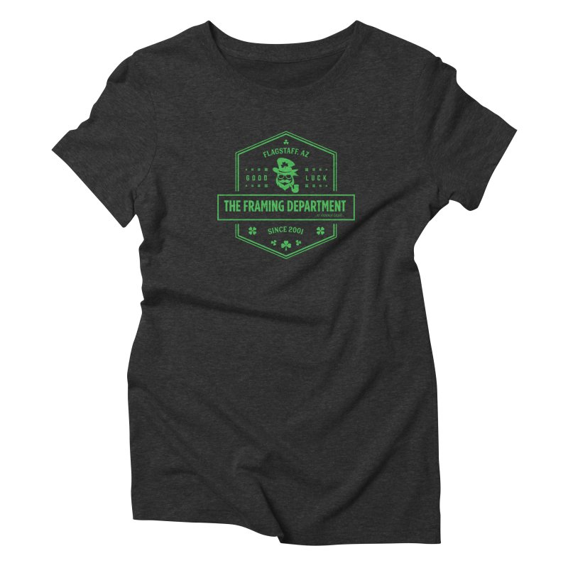 St Paddy's with Pipe Women's Triblend T-Shirt by Hidden Light