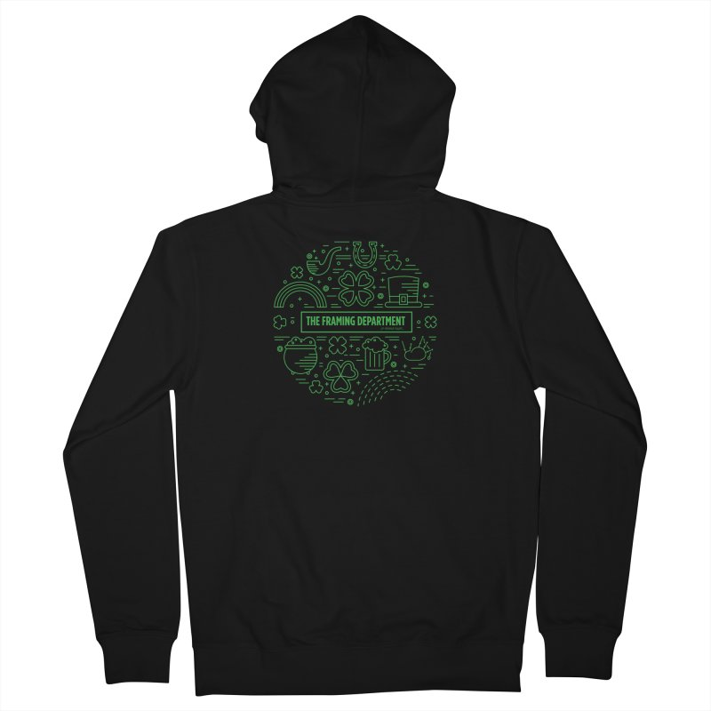 St Paddys circle Men's French Terry Zip-Up Hoody by Hidden Light
