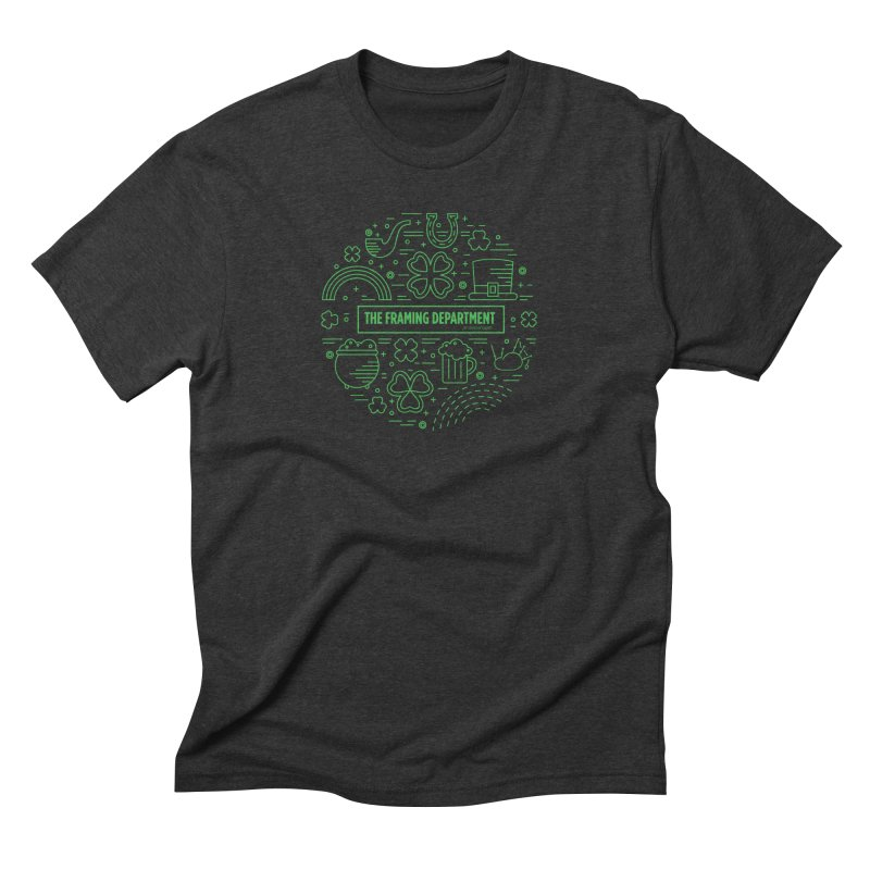 St Paddys circle Men's Triblend T-Shirt by Hidden Light