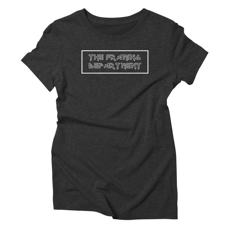 The Framing Department - Eddie Font - Iron Maiden Style Women's Triblend T-Shirt by Hidden Light