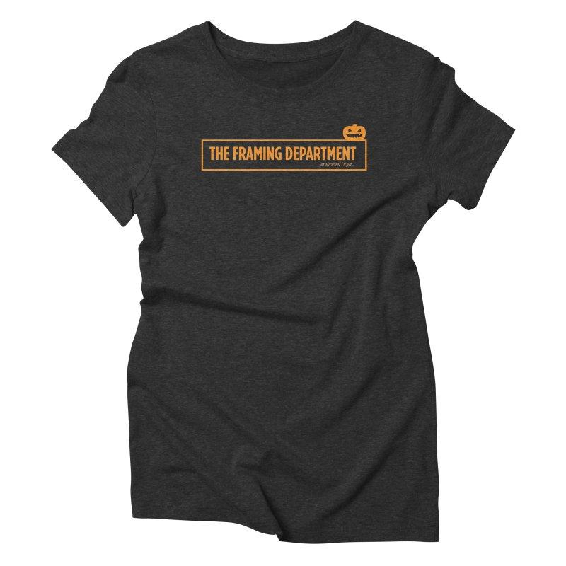 Orange Pumpkin Women's Triblend T-Shirt by Hidden Light