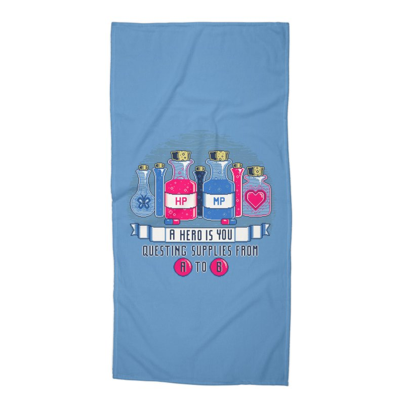 Apothecary Accessories Beach Towel by Hidden Nature's Artist Shop