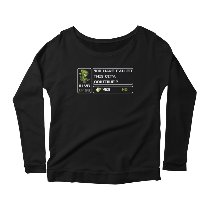8-Bit Archer Women's Longsleeve Scoopneck  by Hidden Nature's Artist Shop