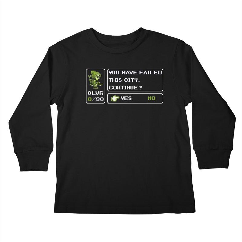 8-Bit Archer Kids Longsleeve T-Shirt by Hidden Nature's Artist Shop