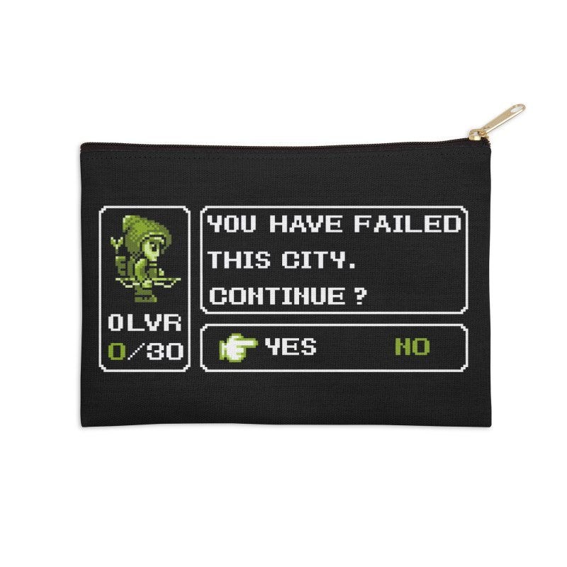 8-Bit Archer Accessories Zip Pouch by Hidden Nature's Artist Shop
