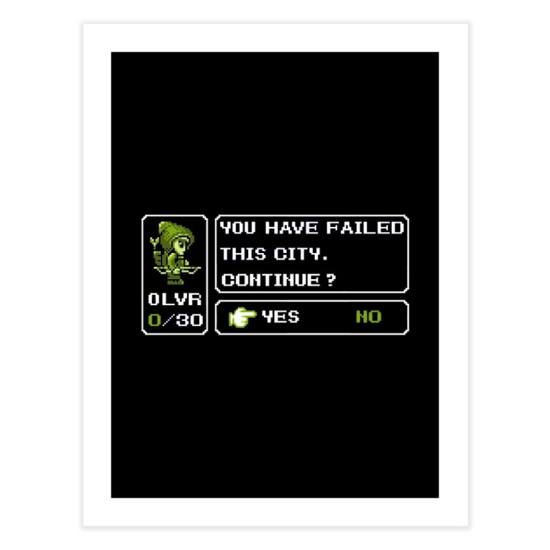 8-Bit Archer Home Fine Art Print by Hidden Nature's Artist Shop