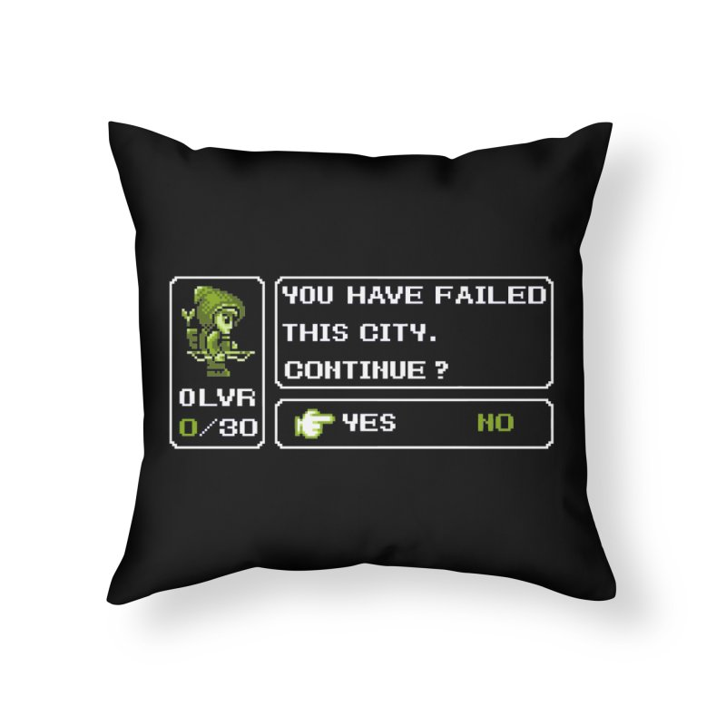 8-Bit Archer Home Throw Pillow by Hidden Nature's Artist Shop