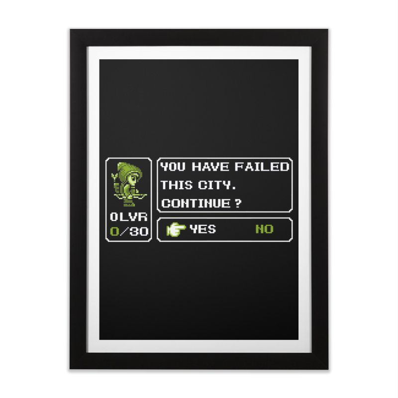 8-Bit Archer Home Framed Fine Art Print by Hidden Nature's Artist Shop