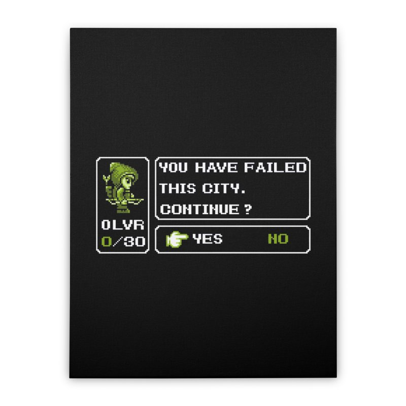 8-Bit Archer Home Stretched Canvas by Hidden Nature's Artist Shop