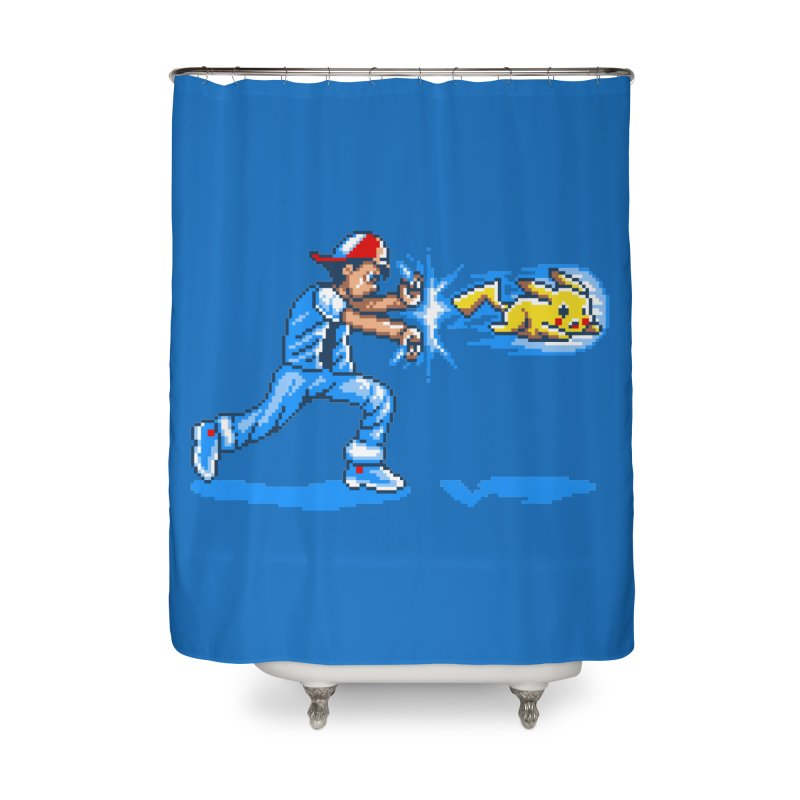 Pikadouken! Home Shower Curtain by Hidden Nature's Artist Shop