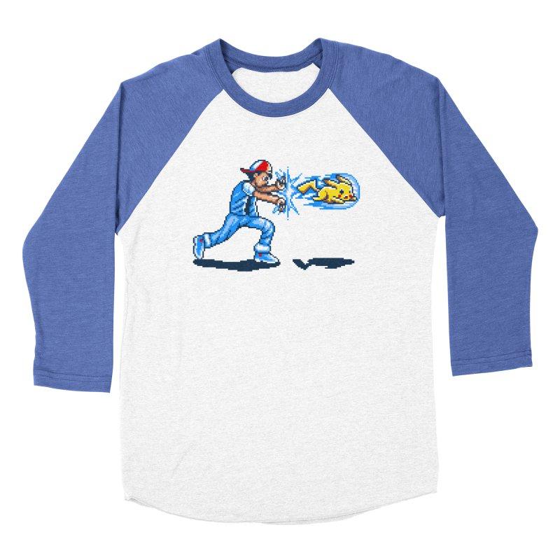 Pikadouken! Men's Baseball Triblend T-Shirt by Hidden Nature's Artist Shop