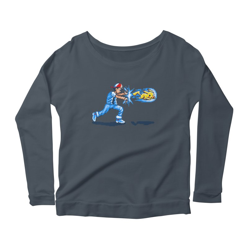 Pikadouken! Women's Longsleeve Scoopneck  by Hidden Nature's Artist Shop
