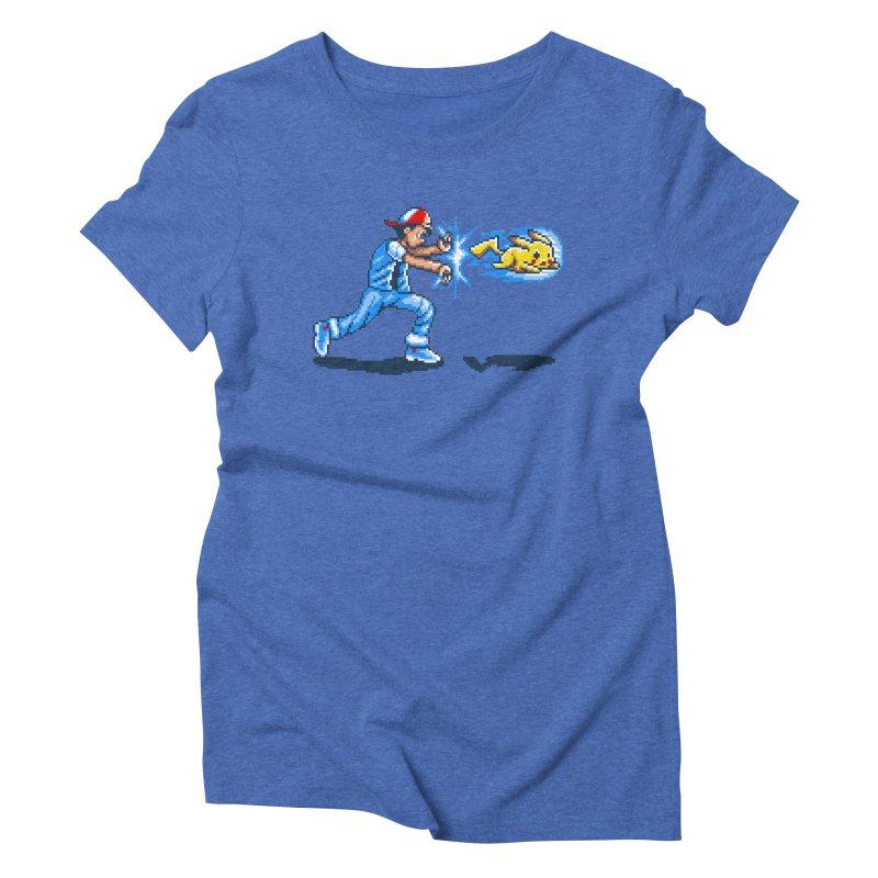 Pikadouken! Women's Triblend T-Shirt by Hidden Nature's Artist Shop