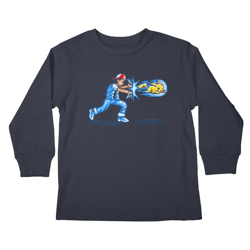 Pikadouken! Kids Longsleeve T-Shirt by Hidden Nature's Artist Shop