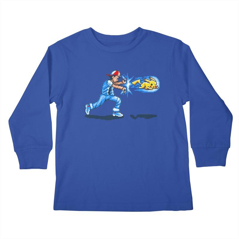 Pikadouken! Kids Longsleeve T-Shirt by Hidden Nature's Artist Shop