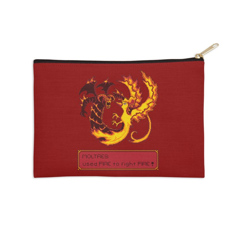 Shadow and Flame Accessories Zip Pouch by Hidden Nature's Artist Shop