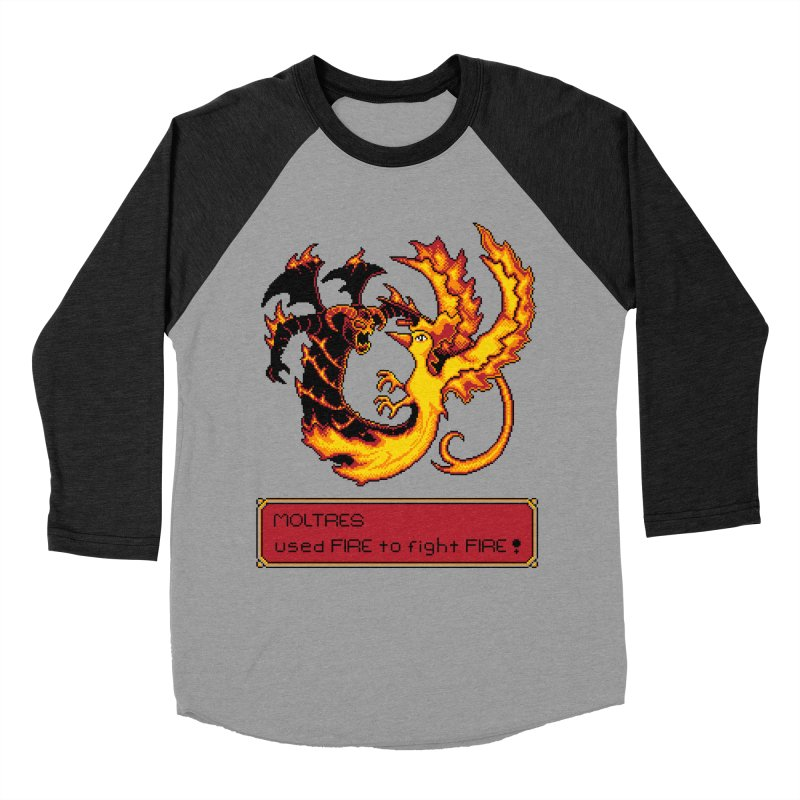 Shadow and Flame Men's Baseball Triblend T-Shirt by Hidden Nature's Artist Shop
