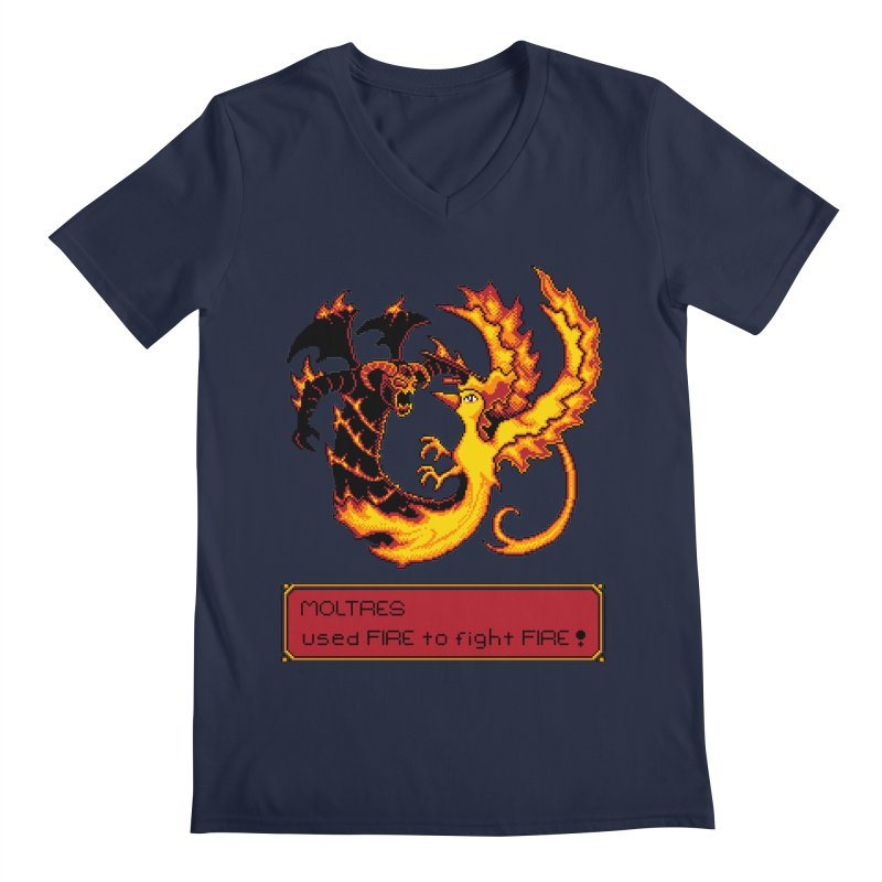 Shadow and Flame Men's V-Neck by Hidden Nature's Artist Shop