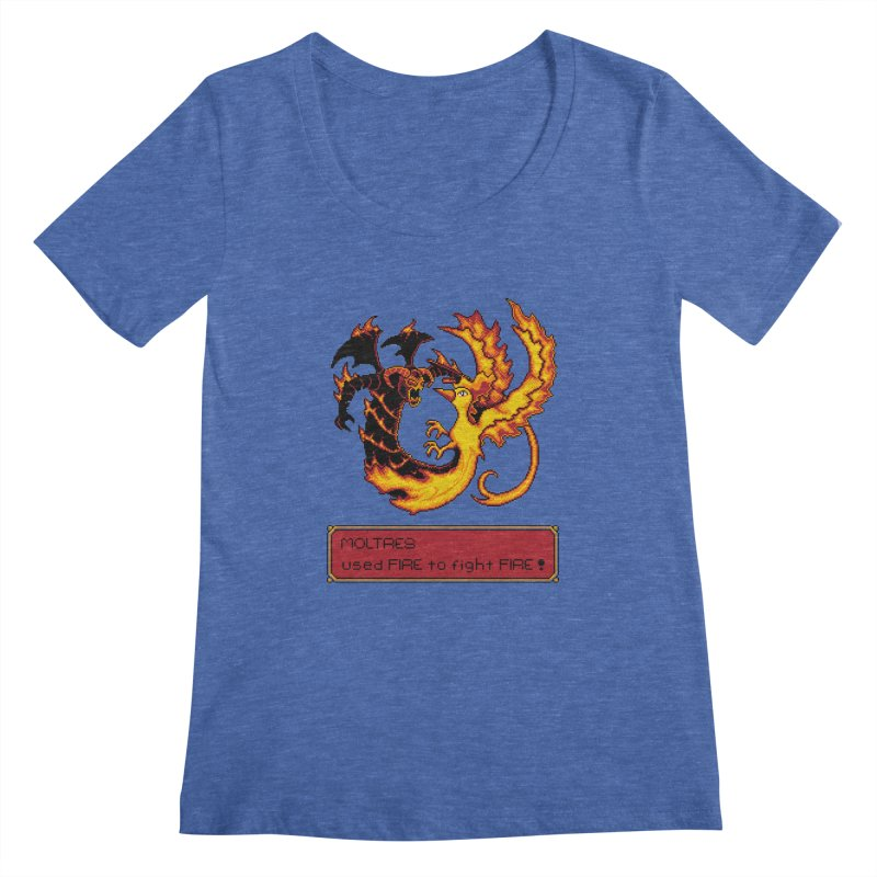 Shadow and Flame Women's Scoopneck by Hidden Nature's Artist Shop