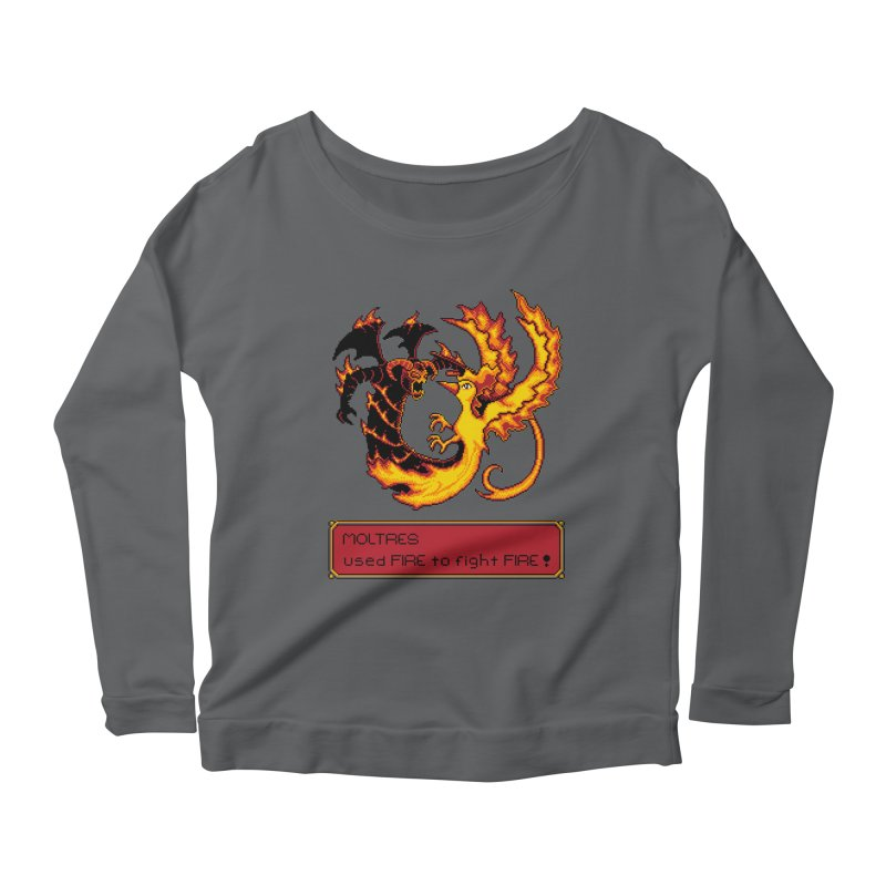 Shadow and Flame Women's Longsleeve Scoopneck  by Hidden Nature's Artist Shop
