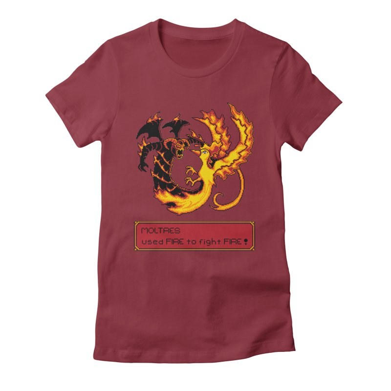 Shadow and Flame Women's Fitted T-Shirt by Hidden Nature's Artist Shop