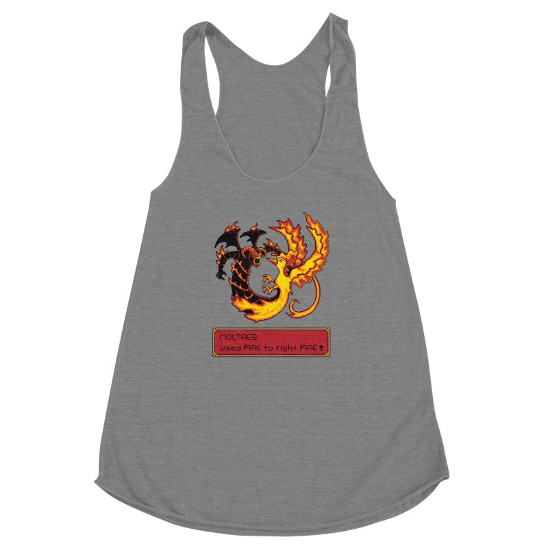 Shadow and Flame Women's Racerback Triblend Tank by Hidden Nature's Artist Shop