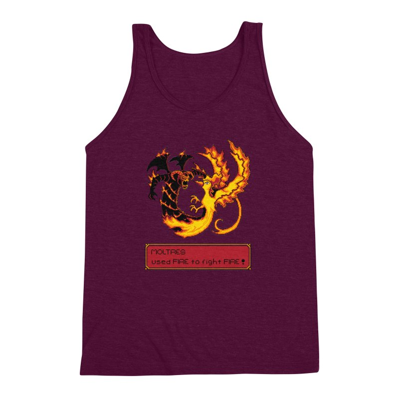 Shadow and Flame Men's Triblend Tank by Hidden Nature's Artist Shop