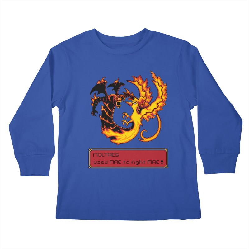 Shadow and Flame Kids Longsleeve T-Shirt by Hidden Nature's Artist Shop
