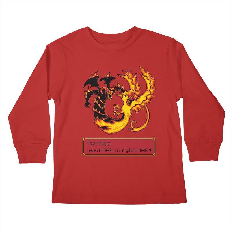Shadow and Flame Kids Longsleeve T-Shirt by Hidden Nature's Artist Shop
