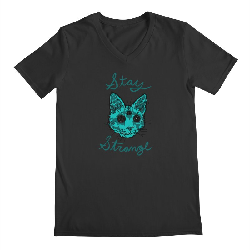 stay strange Men's V-Neck by The Art Shop of HiddenStash