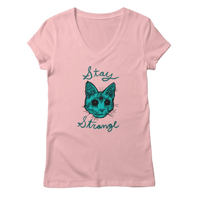 stay strange Women's V-Neck by The Art Shop of HiddenStash