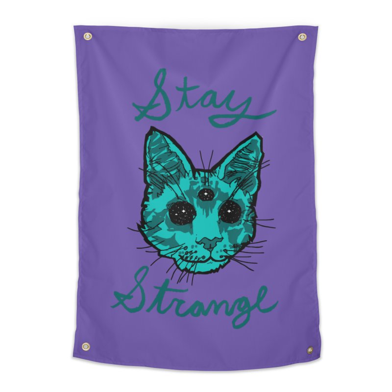 stay strange Home Tapestry by The Art Shop of HiddenStash