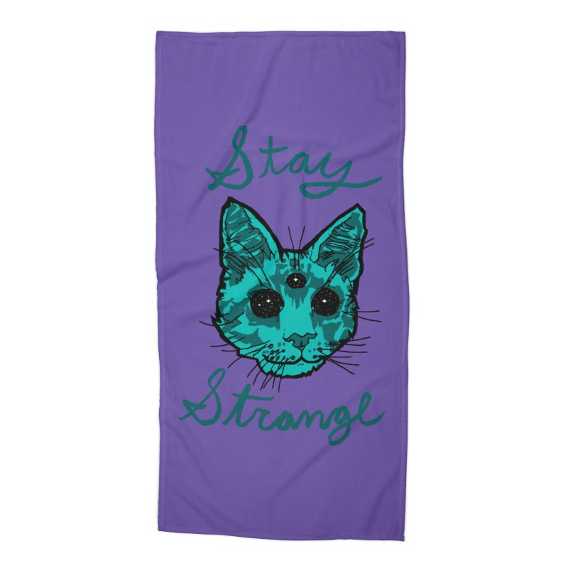stay strange Accessories Beach Towel by The Art Shop of HiddenStash