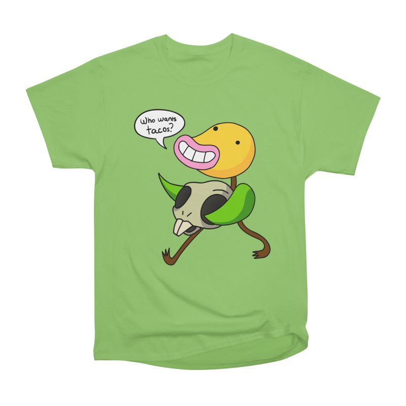 Who wants tacos? Women's Heavyweight Unisex T-Shirt by High 5 Toons Store