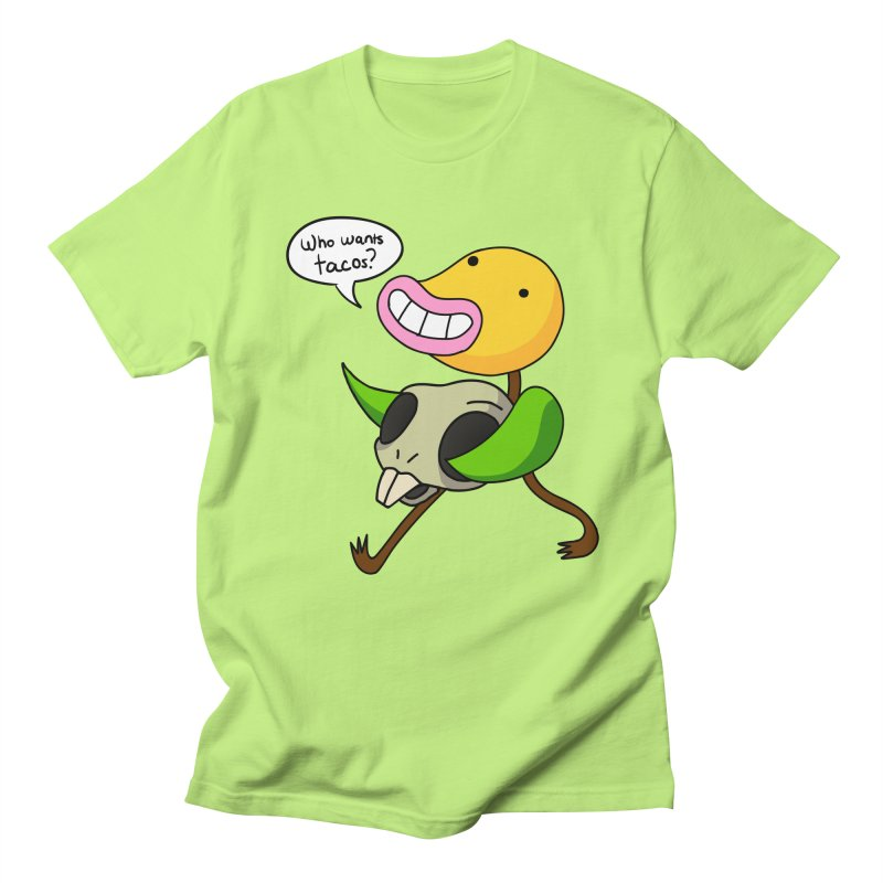 Who wants tacos? Men's Regular T-Shirt by High 5 Toons Store