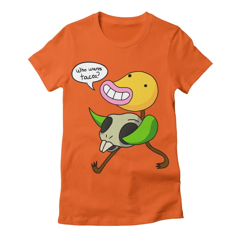 Who wants tacos? Women's Fitted T-Shirt by High 5 Toons Store