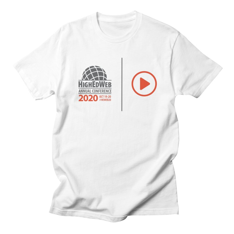 HighEdWeb 2020 Annual Conference — Play Logo Men's T-Shirt by HighEdWeb Apparel and Accessories