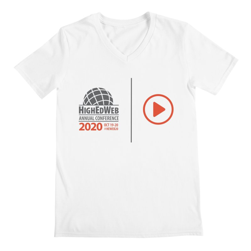 HighEdWeb 2020 Annual Conference — Play Logo Men's V-Neck by HighEdWeb Apparel and Accessories