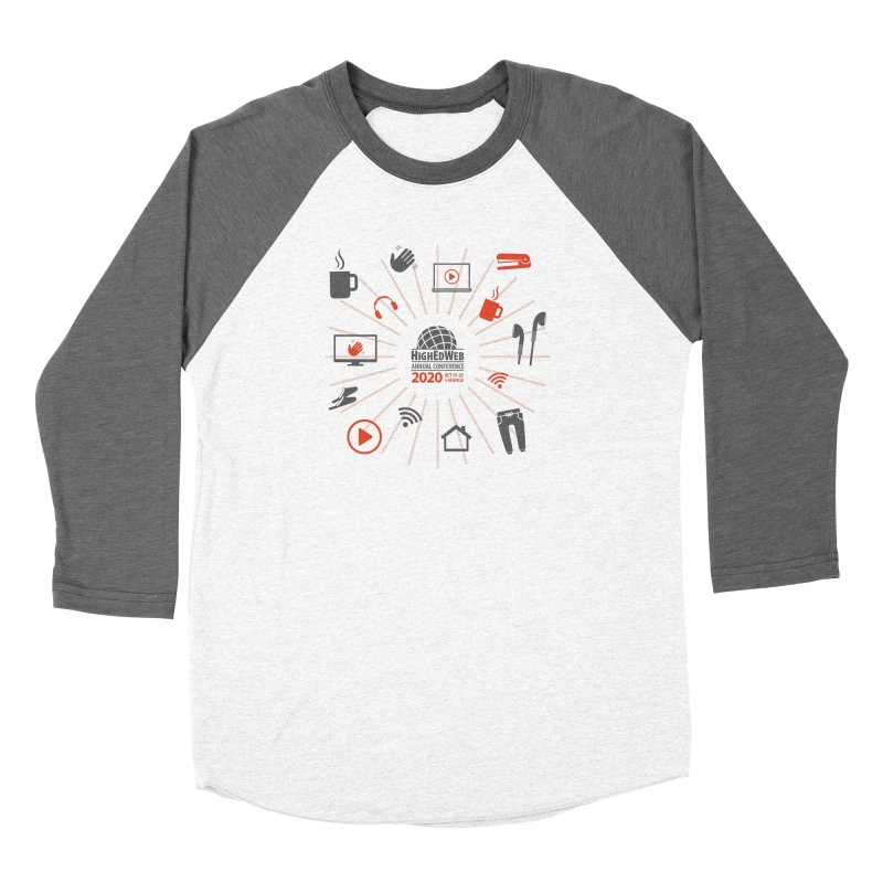 HighEdWeb 2020 Annual Conference — Icon Burst Men's Longsleeve T-Shirt by HighEdWeb Apparel and Accessories