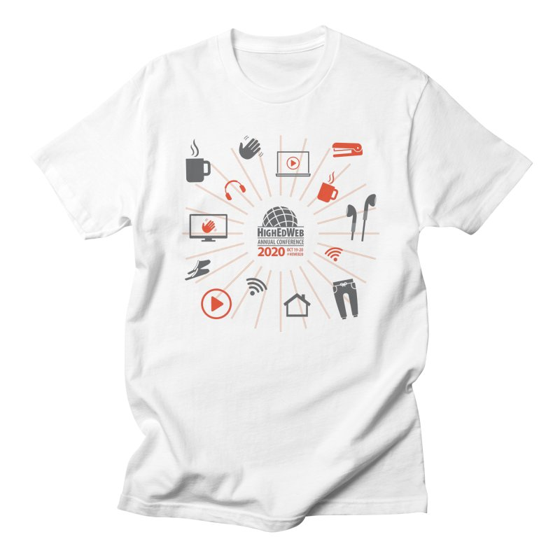 HighEdWeb 2020 Annual Conference — Icon Burst Men's T-Shirt by HighEdWeb Apparel and Accessories
