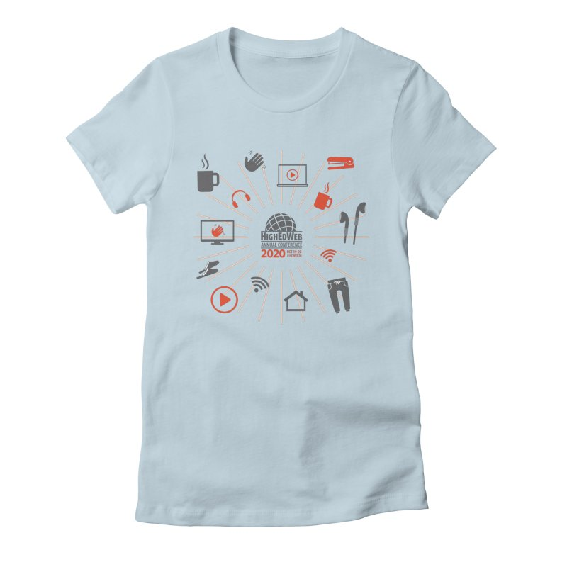 HighEdWeb 2020 Annual Conference — Icon Burst Women's T-Shirt by HighEdWeb Apparel and Accessories