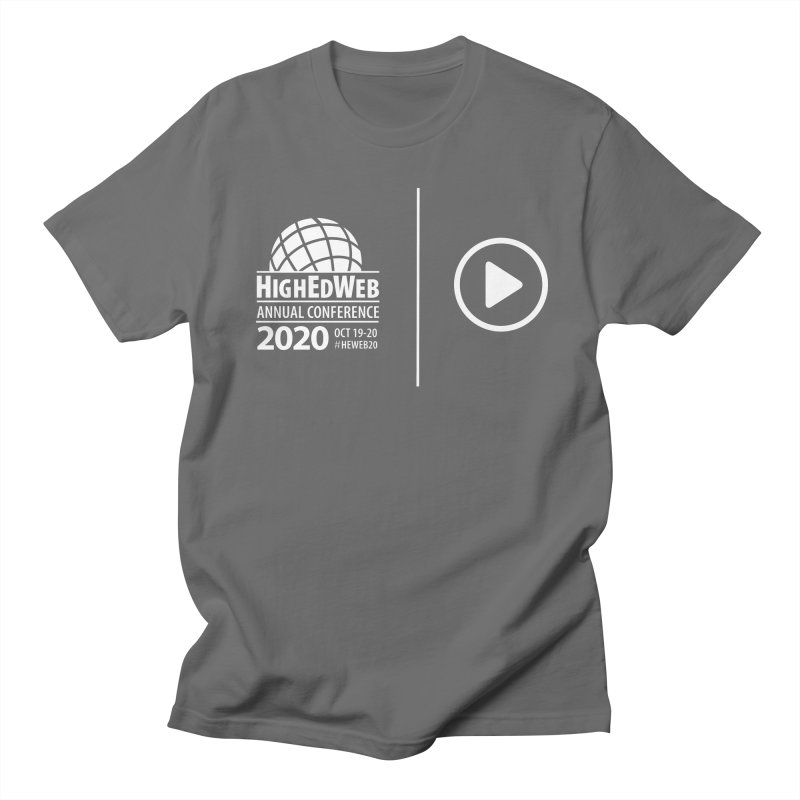 HighEdWeb 2020 Annual Conference — Reversed Play Logo Men's T-Shirt by HighEdWeb Apparel and Accessories