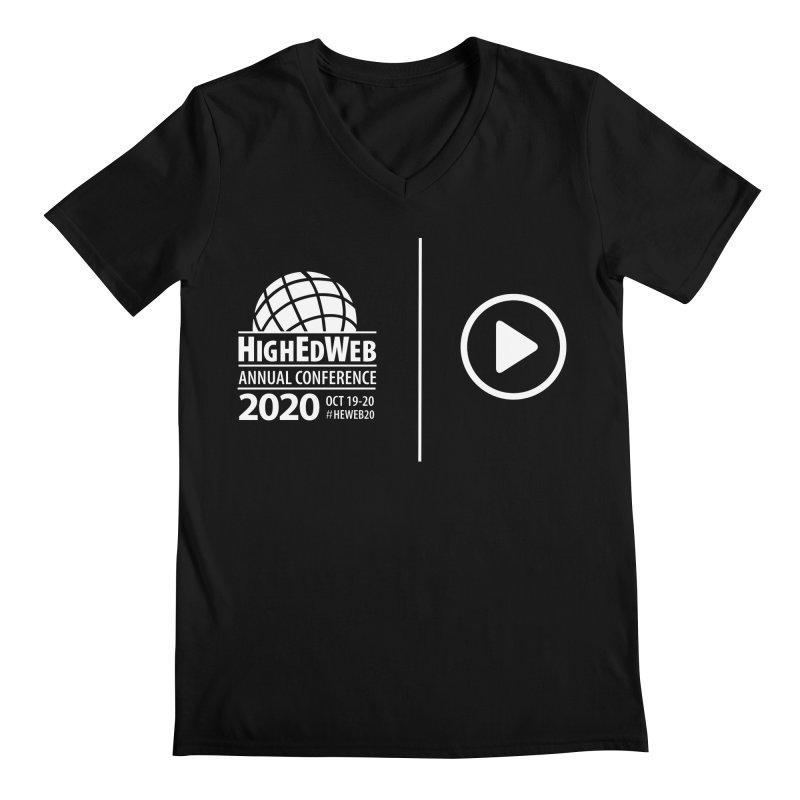 HighEdWeb 2020 Annual Conference — Reversed Play Logo Men's V-Neck by HighEdWeb Apparel and Accessories